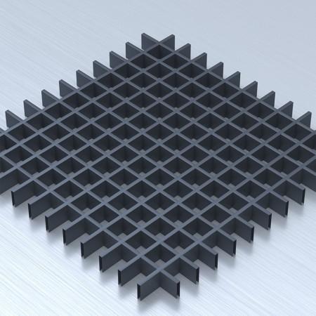 Грильято 50х50 графітовий