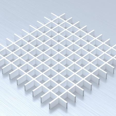 Грильято 60х60 білий підвісна стеля