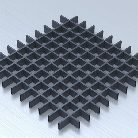 Грильято 60х60 графітовый підвісна стеля