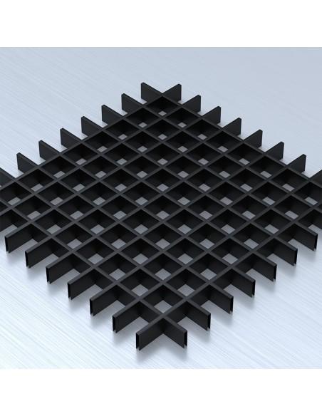 Грильято 60х60 чорний підвісна стеля