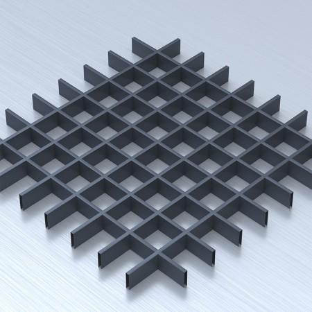 Грильято 75х75 графітовий підвісна стеля