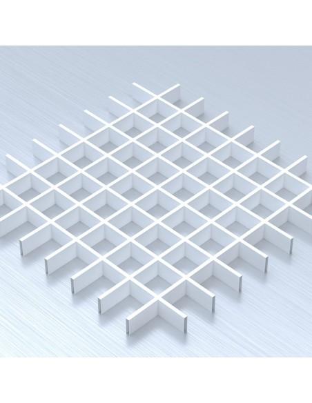Грильято 75х75 білий підвісна стеля