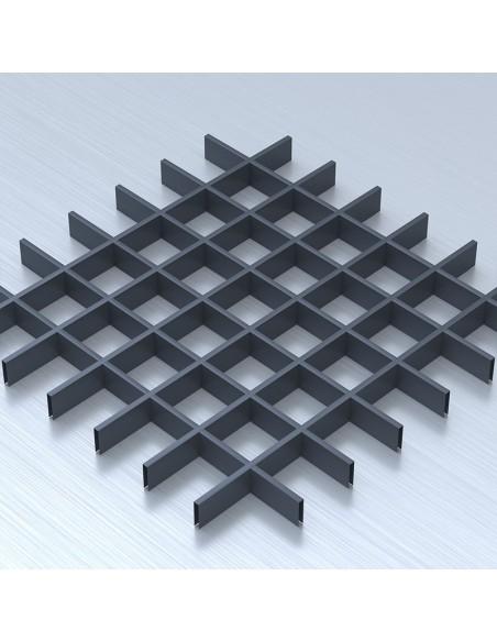 Грильято 86х86 графітовий підвісна стеля
