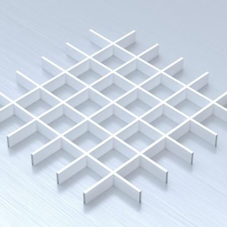 Грильято 100х100 білий підвісна стеля
