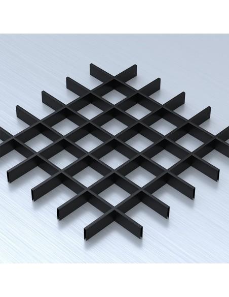Грильято 100х100 чорний підвісна стеля