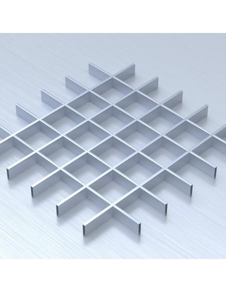 Грильято 100х100 сірий підвісна стеля