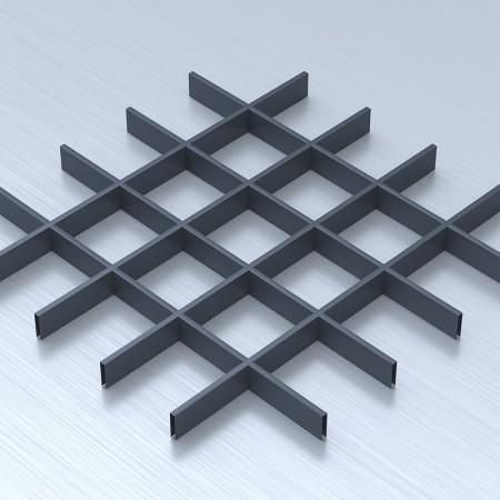 Грильято 120х120 графітовий підвісна стеля