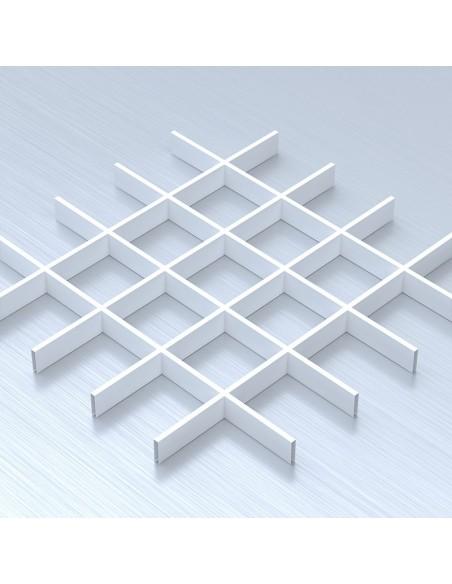 Грильято 120х120 білий підвісна стеля