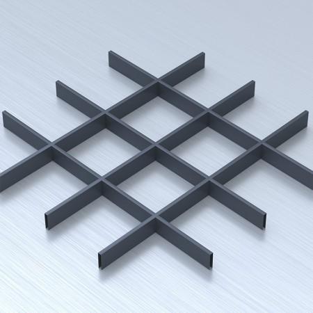 Грильято 150х150 графітовий підвісна стеля