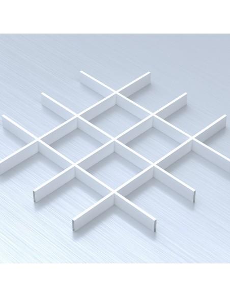 Грильято 150х150 білий підвісна стеля