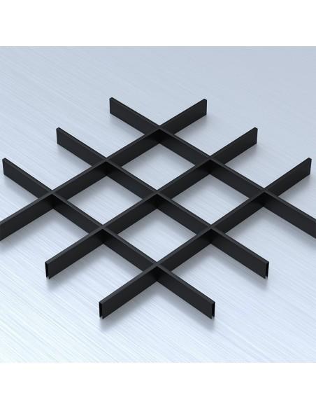 Грильято 150х150 чорний підвісна стеля