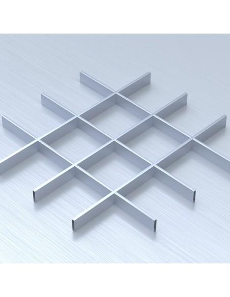 Грильято 150х150 сірий підвісна стеля