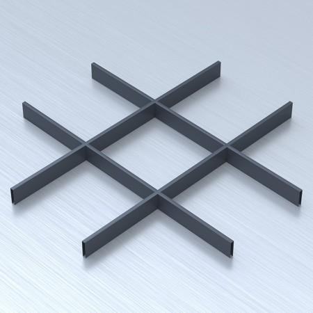 Грильято 200х200 графітовый підвісна стеля