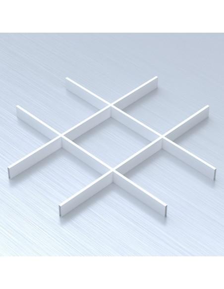 Грильято 200х200 білій підвісна стеля
